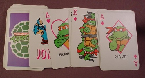 Tmnt Deck Of 52 Playing Cards Plus Joker Turtles On The Face