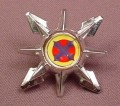 Voltron Silver Shield Accessory For A Yellow Lion Action Figure, 2 Inches Across, 1998
