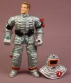 Chap Mei Fireman Action Figure In Heat Suit, Removable Helmet, 4 Inches Tall, Fire Fighter