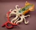 Chap Mei 9 Inch Long Giant Squid Animal Figure, Pirate Expeditions High Sea Menace Monster