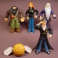 Harry Potter Lot Of 5 Hard Plastic Figures, The Tallest Is 4 Inches Tall