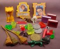 Harry Potter Lot Of Action Figure Accessories, PVC & Plastic, The Hourglass Is 1 3/4 Inches