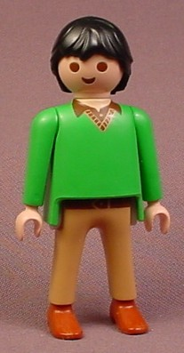 Playmobil Adult Male Teacher Figure In A Green V-Neck ...