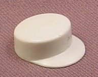 Playmobil White Hat With Low Straight Sides & Bills, Figure Wearable Accessory