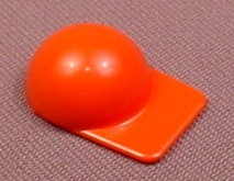 Playmobil Red Baseball Cap Hat With Large Square Bill, No Part Number