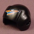Playmobil Black Pilot Helmet With A Shark Teeth Logo, Attachment Point On The Side, 4845, 30 64 4462