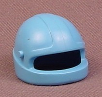 Playmobil Light Blue Motorcycle Helmet With Attachment Points For A Visor, 3143 3222