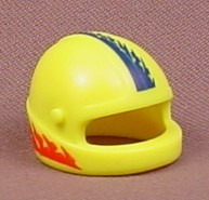 Playmobil Yellow Motorcycle Helmet With Blue & Red Stripes, 9958, 30 62 3402