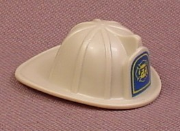 Playmobil Gray Firefighter Helmet With A Blue Logo, Fireman, Fire Fighter, Grey, 5973 5981