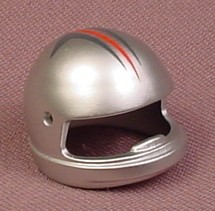Playmobil Silver Racing Helmet With Blue & Red Stripes, 5117 5982, 30 62 4543