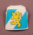 Playmobil White Breastplate Armor With A Gold Lion On A Blue & White Background Sticker, 3261