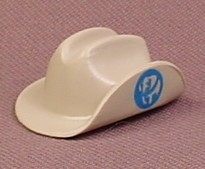 Playmobil Gray Game Keeper Bush Hat With One Side Turned Up & A Blue Elephant Logo, 4559, Grey
