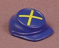 Playmobil Blue Civil War Soldier's Hat With Yellow Crossed Lines On The Top, Cavalry, Western, 3023