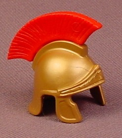 Playmobil Gold Roman Helmet With Red Feather Crest, 4270 4273 4274 4409 4560 4659