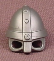 Playmobil Silver Gray Viking Helmet With Eye Holes & A Nose Guard, Grey, 3150 3152 3153 5712 5723