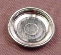 Playmobil Silver Modern Round Plate, 7/8 Inch Across, 3351 3666 3826 3859 3914 4057 5039 5899 5918