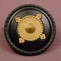 Playmobil Black Round Shield With Gold Center, 3123 3345 3665 3668 3840 3887 3888 4517