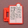 Playmobil Red Clipboard With Sticker, Clip Board, 3090 3905 3906, Figure Accessory