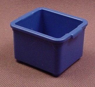 Playmobil Blue Plain Box With Small Handles, 3204 3217 3242 4178 4189 4843 4845 4846 5223 5337 5470