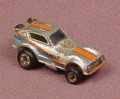 Micro Machines 1986 Plymouth Arrow Funny Car, Silver With Orange Blue Trim, Dragster