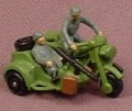 Micro Machines 1987 Military BMW R75 Motorcycle With Side Car, Green & Gray, Sidecar
