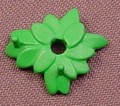 Playmobil Green Leaf Base With 2 Stems For Flowers And A Hole In The Center, 4484 4486 4851 4854