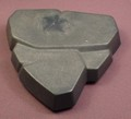 Playmobil Dark Gray Triangular Rock Formation With Flat Surfaces, 3841 4836 7164 7167 7168