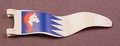 Playmobil White Narrow Wavy Flag Or Pennant With A Unicorn On A Blue Background