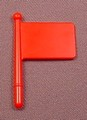 Playmobil Red Small Rectangular Flag On A Short Pole Or Handle, 3615 3992 9958