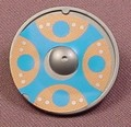 Playmobil Silver Gray Round Viking Shield With A Blue & Brown With 4 Dots Design, 3150 5003 5723