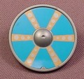 Playmobil Silver Gray Round Viking Shield With A Blue & Brown With 6 Lines Design, 3150 5003 5723