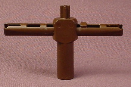 Playmobil Brown Upright & Cross Bar For A Straw Jousting Training Dummy, 3668, Knights