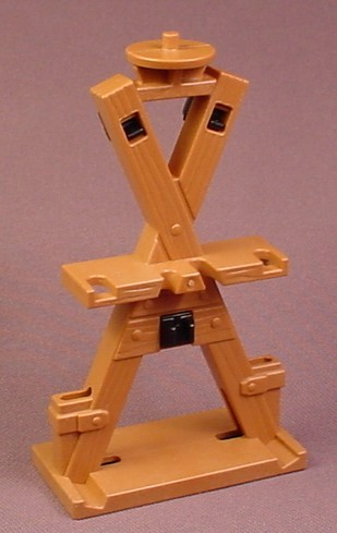 Playmobil Light Brown Weapon Stand Or Rack With A Peg On The Top For A Flame, 3287 4153 4163 4865