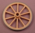 Playmobil Brown & Black Larger Wagon Wheel, 55 MM Diameter, 3057 3111 3674 3735 3812 4072 4186 7619