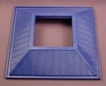 Playmobil Blue Large Square Hipped Roof With Square Center Opening, 4343 4344 7437