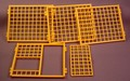 Playmobil 5 Piece Set Of Yellow Orange Cage Or Gridded Zoo Walls, 4343 7437, 30 51 5430