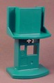 Playmobil Dark Green Airport Announcement Booth Console With Shelf, 4382, 30 03 5770