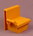 Playmobil Gold Or Orange Brown Train Seat With A Handle On The Right Side, 4005