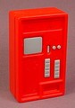 Playmobil Airport Or Train Station Ticket Machine, Front & Back & Inner Section, 4302 4382