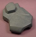 Playmobil Black Or Dark Gray Rock Formation With Small Opening On The End, Grey, 4014
