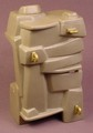 Playmobil Gray Rock Formation Cliff With 3 Gold Rope Loops For Rock Climbing