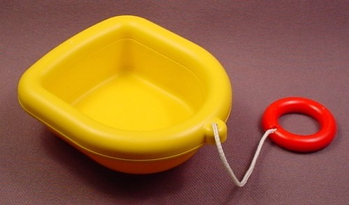 Playmobil 123 Small Yellow Dingy Boat With Pull String, 6714