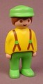 Playmobil 123 Adult Male Farmer Figure With Green Hat & Pants, Yellow Shirt