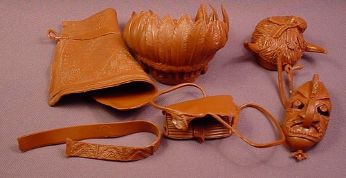 Marx Best Of The West Lot Of Accessories For A Chief Cherokee Indian Action Figure