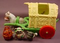 Star Wars Ewoks Woodland Wagon Playset, There Are 2 Initials In Felt Pen On The Bottom