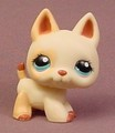 Littlest Pet Shop #1169 Tan Or Cream German Shepherd Puppy Dog With Blue Eyes
