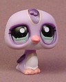 Littlest Pet Shop #1085 Light Purple Penguin Bird With Aqua Green Eyes, Collector Journal