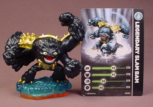 Skylanders Legendary Slam Bam Figure With Card, Water Element, Giants Series