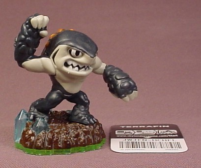 Skylanders Terrafin Figure With Code Tag, Earth Element, Spyro's Adventures Series