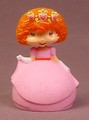 Strawberry Shortcake In A Pink Ball Gown & Tiara Vinyl Figure, 3 Inches Tall, White Gloves